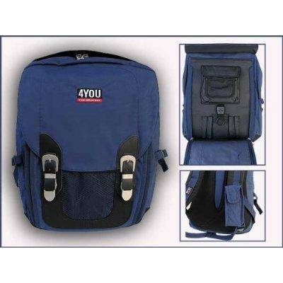 185cbb431e578 4YOU Schulrucksack Street Indigo Blue