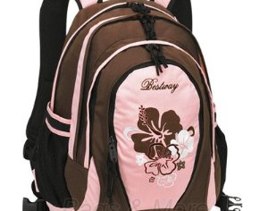 Bestway Schulrucksack Brown Flower Rucksack Schulranzen