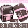 ELEPHANT WORLD TOURS: Girls Flower »Chocolate Pink« Schulrucksack-Set