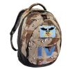 Hama School´s out Schulrucksack Camouflage Brown