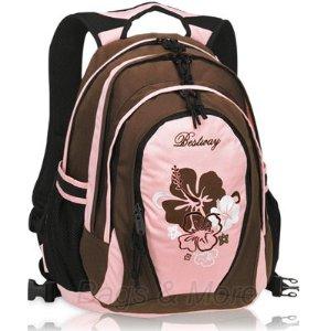 BESTWAY Schulrucksack BROWN FLOWER Rucksack Schulranzen Bestway Schulrucksack Brown Flower Rucksack Schulranzen